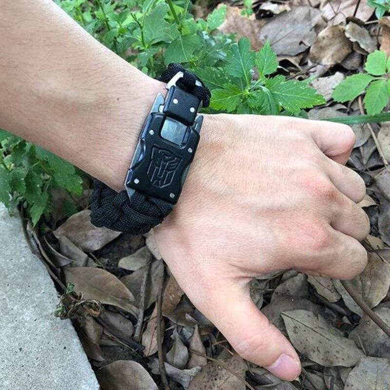 Men's Outdoor Survival Bracelet Multifunctional Bangles Parachute Rope Braided Multi Functional Men's Bracelets Women Bracelet