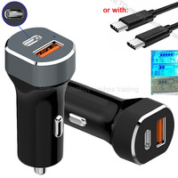 Quick Charge QC 3 0 Fast Charging Type C QC3 0 USB Car Phone Charger For