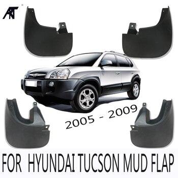 Spatlappen Accessoires 4 stks/set FIT VOOR 2005-2009 HYUNDAI TUCSON SLIKRANDEN FLAPS SPLASH GUARD SPATBORD