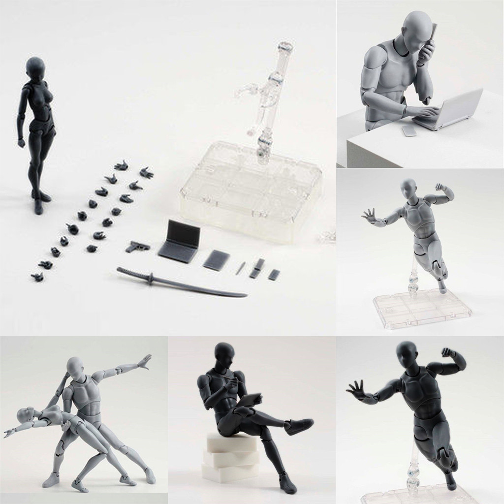 Mannequin Action-Figure-Model Archetype Anime Artists for Human Woman-Kits with Box Ferrite
