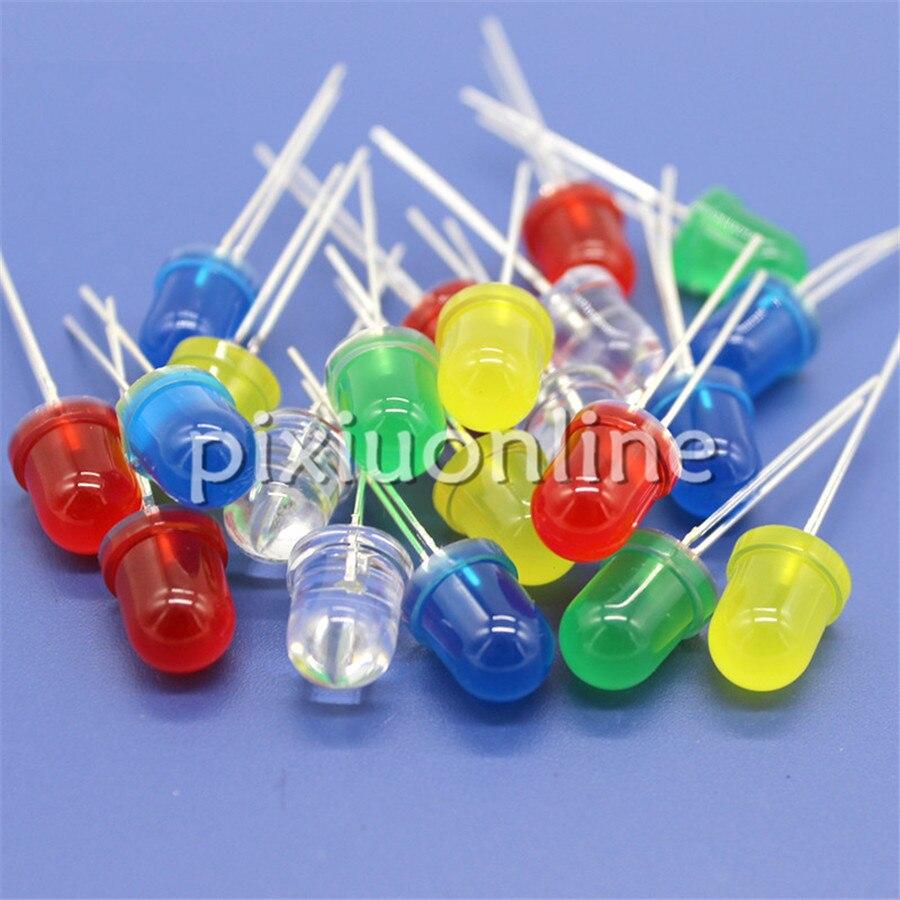 10pcs/bag J759 Diameter 8mm Colorful Light Emitting Diode 5colors Choose 2-2.2V/3-3.2V Europe Sale At A Loss