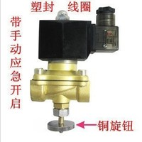 2T 160 15 Electronic Gas Solenoid Valve with Manual Emergency Switch
