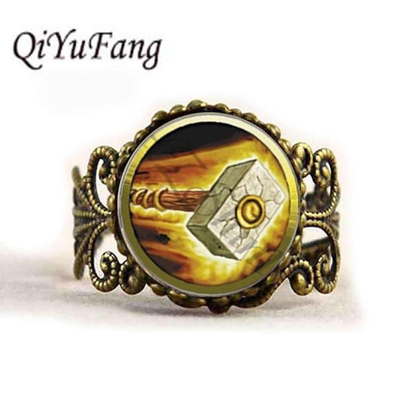Quyifang Baru Fashion Wow Liontin World Of Warcraft Cincin Kubah Kaca Warcraft Cincin Hadiah untuk Teman Pemain Game