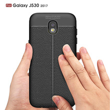 ФОТО for samsung galaxy j5 (2017) / j530 / j5 pro (2017) litchi pattern soft phone cover case protective shell