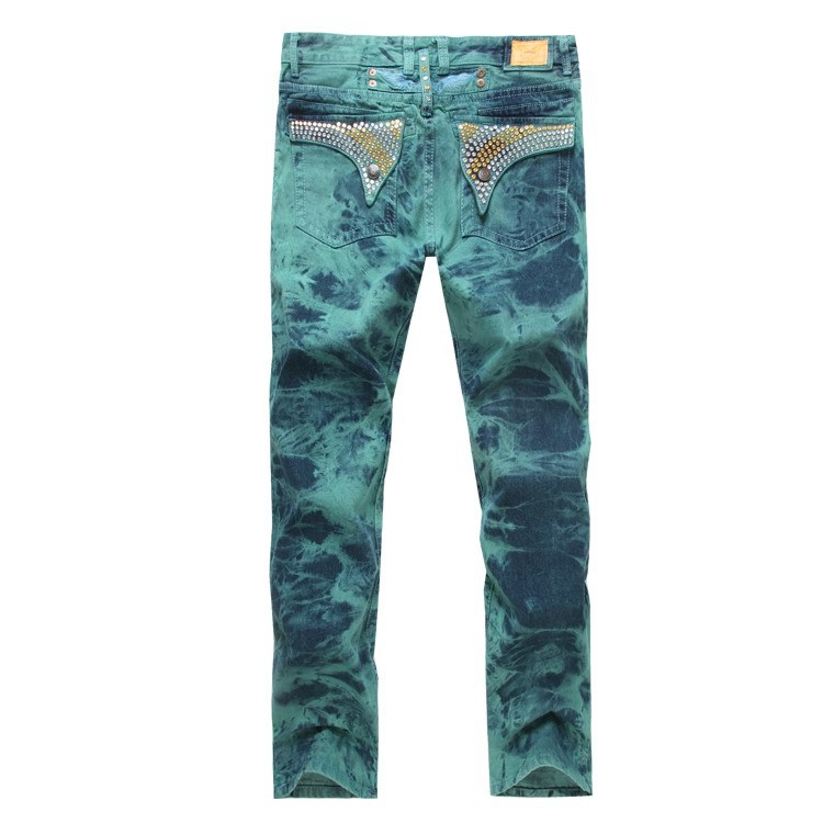 2015 New Green Robin Jeans Men Pants Famous Brand Robins Wings American Flag Plus Size 38 40 42 - Yuchen Store store