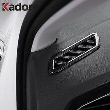 Для Volkswagen VW T-Roc TROC 2017 2019 2018 автомобиль верхний кондиционер вентиляционная крышка Накладка автомобиля-Стайлинг интерьерные аксессуары 2 шт.