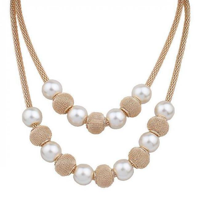 Pearl necklace collier femme collares statement Multilayer choker statement jewelry