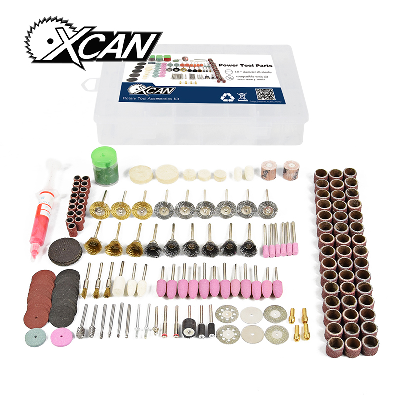 XCAN! 219 pcs/set Rounting tool Rotary tools Accessories Kit  with pink Abrasive head rotary tools accessories kit 98 piece pack