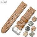 Correa de Reloj Correas de reloj de Cuero Real Negro Brown Band Hebilla de Metal Grueso Cinturón de Hebilla De Acero Inoxidable Relojes relogio del Hombre B52