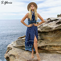 M.H.Artemis 3Colors Loose Boho Folk-custom Floral Maxi Beach Slit Side Long Dress Evening Wedding Party Trendy Maxi Vestido
