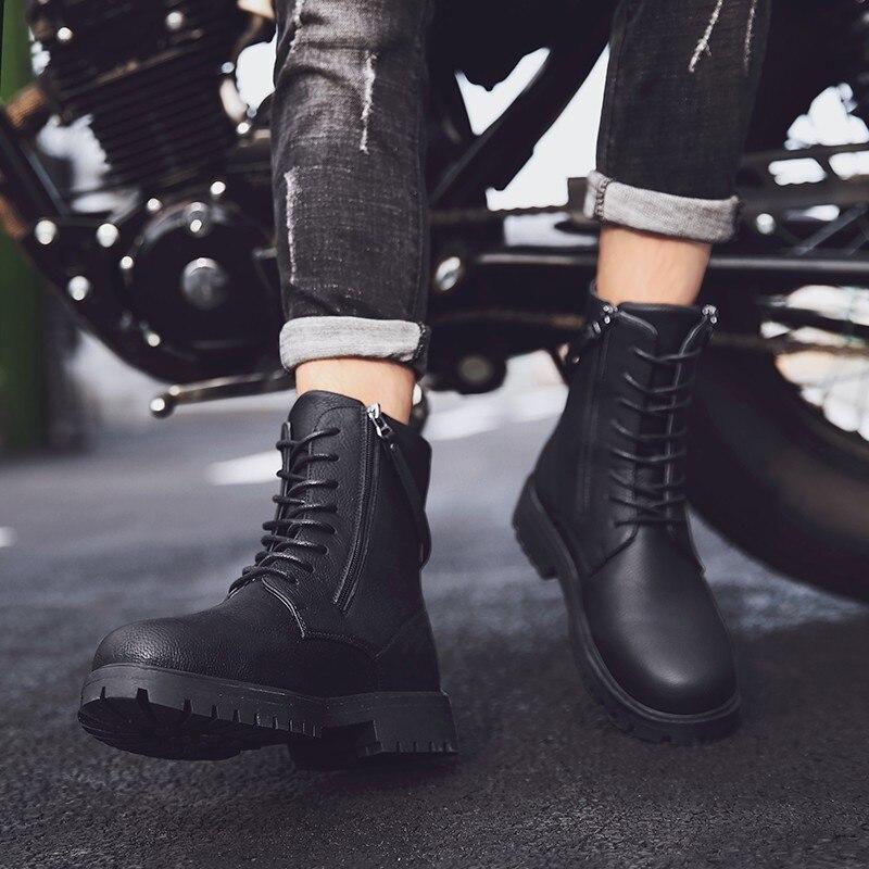 Martin bottes haute aide chaussures bottes en plein air Sport loisirs temps chaussures en cuir hommes confortable respirant haute qualité chaussures de sécurité - 2
