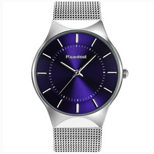 Readeel Fashion Mens Watches Top Brand Luxury Quartz Watch Men Casual Slim Mesh Steel Ultra Thin Sport Watch Relogio Masculino(China)