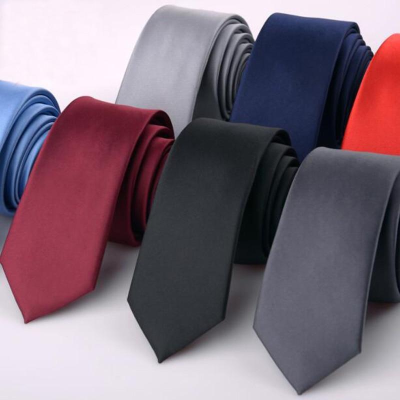 Shirt Accessories Men Skinny Tie Black Green Orange Red Grey Tie Man Wedding Necktie Blue Formal Slim Ties For Men Gravata 6cm