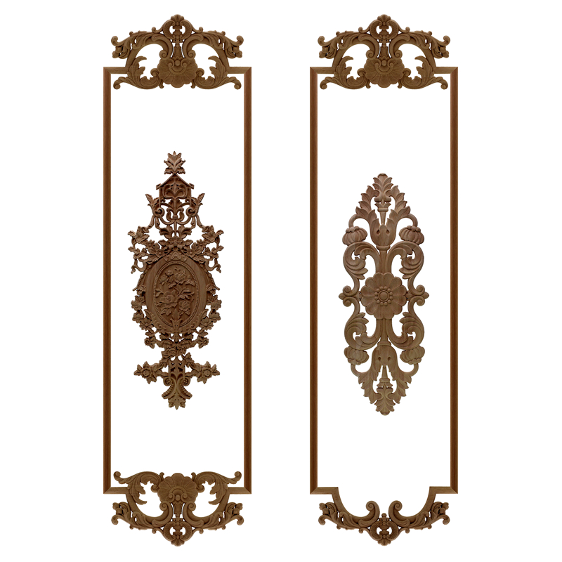 VZLX Simple Vintage Wood Carved Decal Corner Onlay Applique Frame Furniture Wall Unpainted For Home Cabinet Door Decor Craft