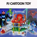Pj Cartoon Mask 3 Floor Parking Lot Toy Les Pyjamasques Connor Greg Amaya Racing Car Jouet Children Christmas Juguetes Gift