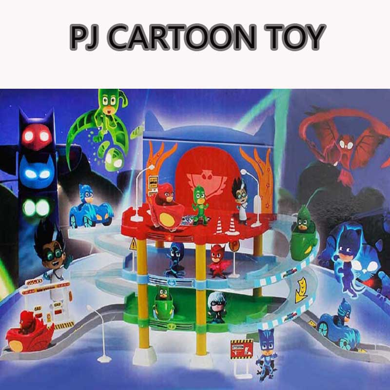 Pj Cartoon Mask 3 Floor Parking Lot Toy Les Pyjamasques Connor Greg Amaya Racing Car Jouet Children Christmas Juguetes Gift les enfants pj racing mission cruiser car dessin maskmm toy anime pj car big truck display jouet children bithday gift toys