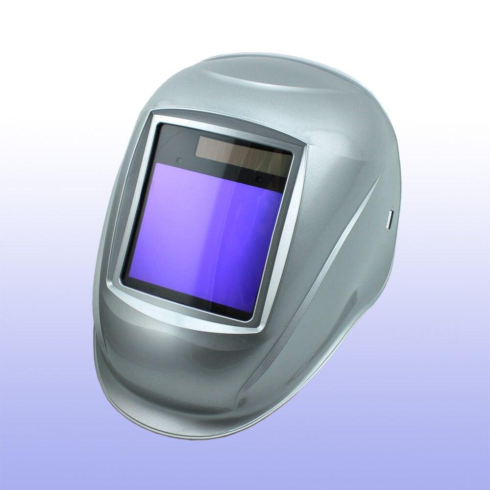 Saldatura Auto oscuramento maschera casco/saldatura/MIG MAG TIG (Grand-918I Argento)/4arc sensore