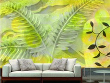 3d wallpaper for room Leaves Relief jade Background wall customized wallpaper for walls custom 3d wallpaper