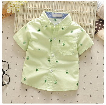 1-4y baby boys summer shirts turn-down collar cotton little children clothing short sleeve infants kids tops vetements garcons