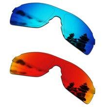 419cc5622 SmartVLT 2 PCS Óculos Polarizados Lentes de Reposição para óculos Oakley  EVZero Passo Azul Gelo e Fogo Vermelho
