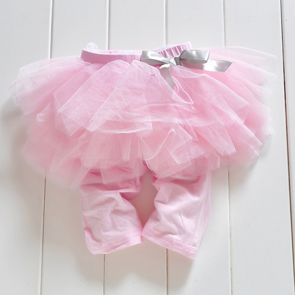 Princess Girl Kids 0-3Years Culottes Leggings Gauze Pants Party Bow Tutu Skirts Hot