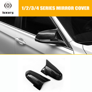 M3 & M4 Style Carbon Fiber Replaced Rear View Side Mirror Cover Cap for BMW 1 2 3 4 X Series F20 F21 F22 F23 F30 F34 F36 E84 X1 image