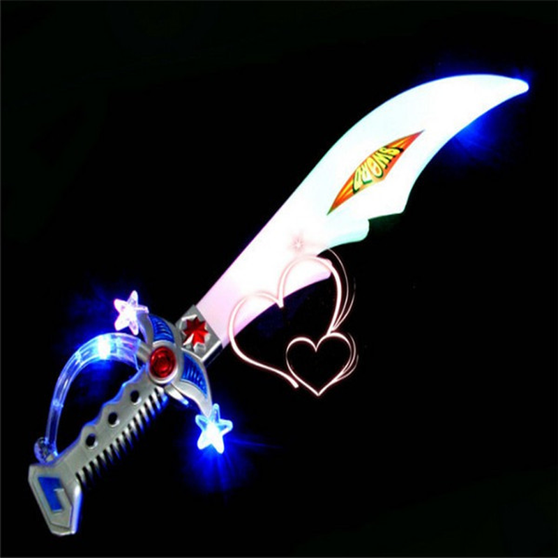 AU511 16.5 Inches Assorted Pirate Sword Led Light Up Novelty /& Gag Toys 3 Pcs