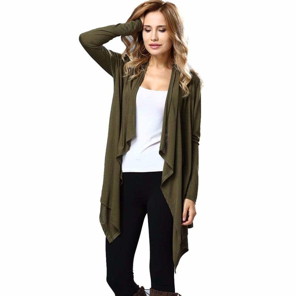 Women's Jackets And Coats Waterfall Draped Cardigans Women Casual Loose Slim Coat Autumn Thin Jacket Female Long Cardigans Lady