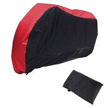 Red Black Motorcycle Street Bike Scooter Waterproof Resistent Rain UV Protective Breathable Cover Outdoor Indoor storage bag XL