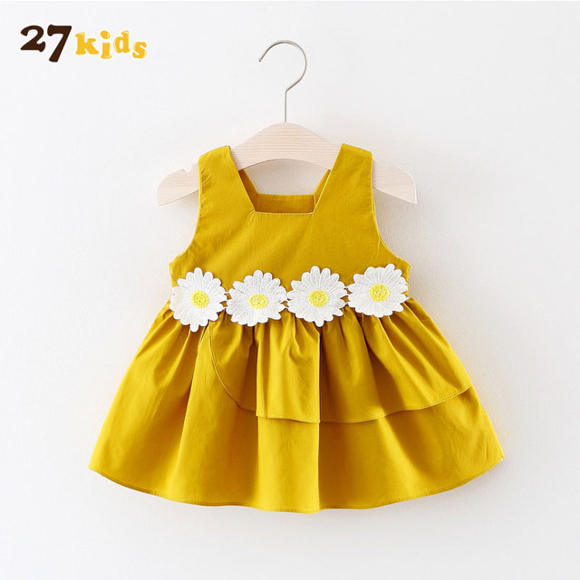 f5fcdeee96c7 27Kids Newborn Baby Dress Fashion Infant Bebes Summer Sleeveless ...