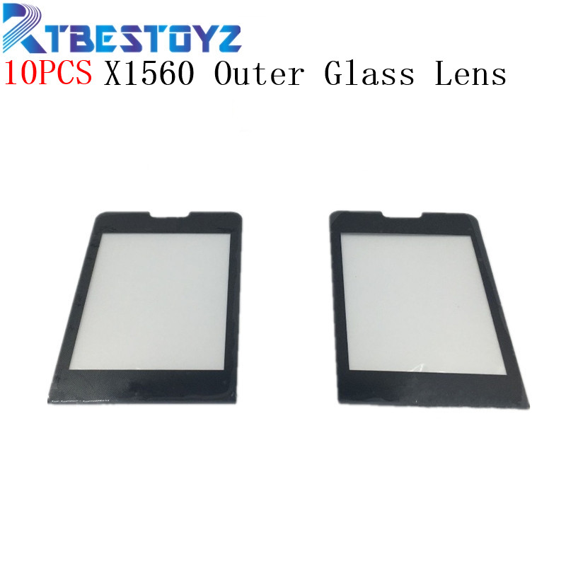 RTBESTOYZ 10PCS/lot Black Screen For Philips Xenium X1560 Glass lens Panel NOT Touch Screen Digitizer Replacement + Tracking image