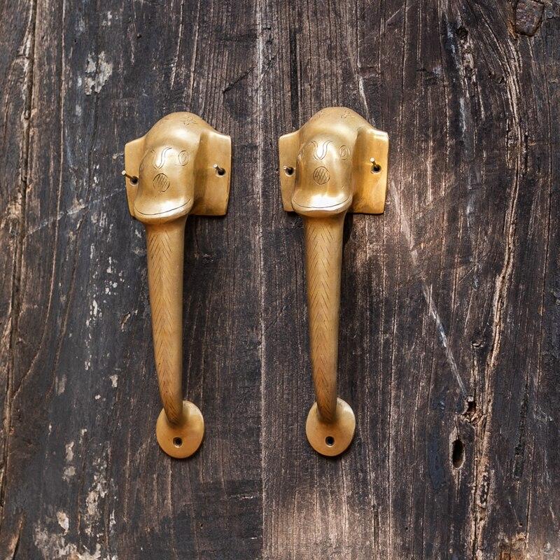 1 pièce poignée éléphant en laiton fait à la main armoire porte poignée chambre salon porte accessoire inde Style livraison gratuite