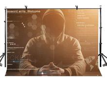 7x5ft Computer Hacker Backdrop Classic Photography Background and Studio Props
