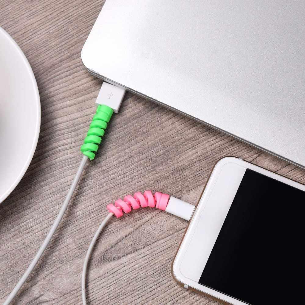 2 Pcs USB Charger Kabel Pelindung Saver Cover untuk Apple Iphone Samsung Xiaomi Smart Phone Usb Charger Kabel