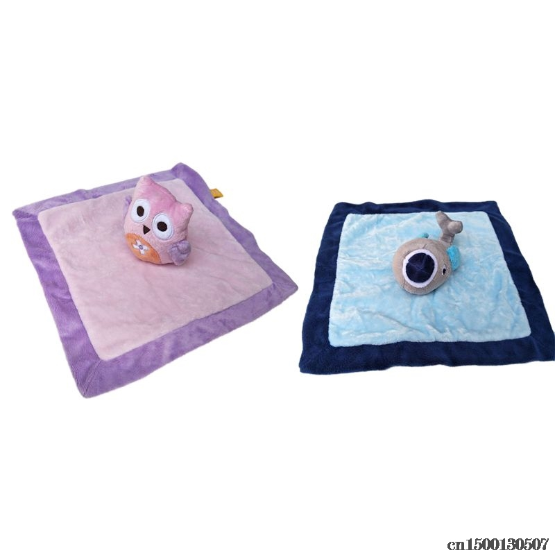 Towels Baby Pacifier Appease Soothe Towel Cute Cartoon Owl Dolphin Soft Plush Nursing Stuffed Doll Infant Teether Sleeping Partner Bath & Shower Product