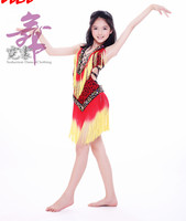 Flamenco Dance Dress Free Size Girls Salsa Dress Red Color Latin Skirts 2015 New Performance Latin