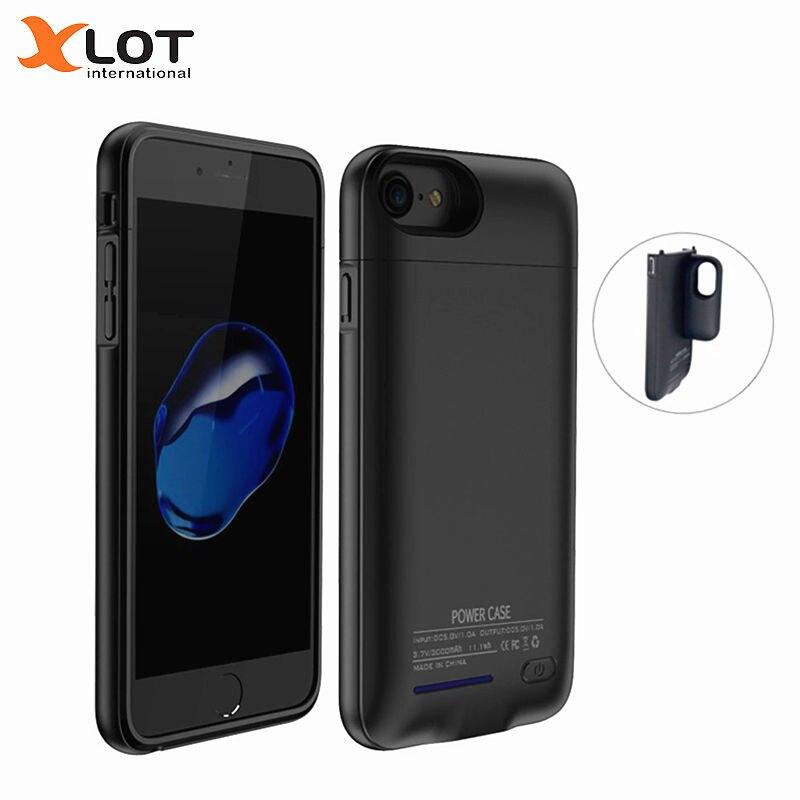 XLOT chargeur de batterie étui pour iphone 7 7plus 3000/4200 mAh boîtier d'alimentation Ultra mince couvercle externe batterie de secours Pack de charge
