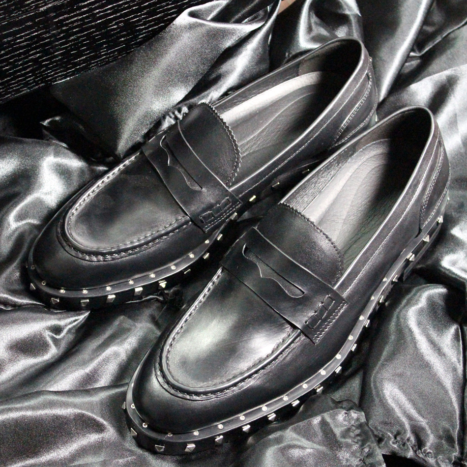 New height increasing pointed men's genuine leather loafers cool rivets slip on men leather shoes thick heel cool men shoes EU45 size 38 43 2016 new men fashion steel head genuine leather loafers lazy height increasing casual shoes mp10