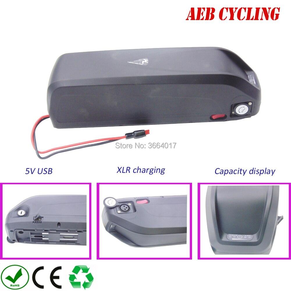 Frete grátis 17.5Ah Hailong para baixo tubo ebike bateria de iões de Lítio 48 V bicicleta elétrica da bateria para fat tire bike com carregador