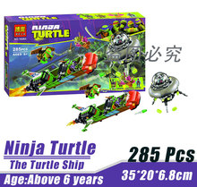 Bela 10263 Ninja Tortoise Mutant Era The Turtle Ship Minifigures Building Block Minifigure Toys Best Toys Compatible with Legoe