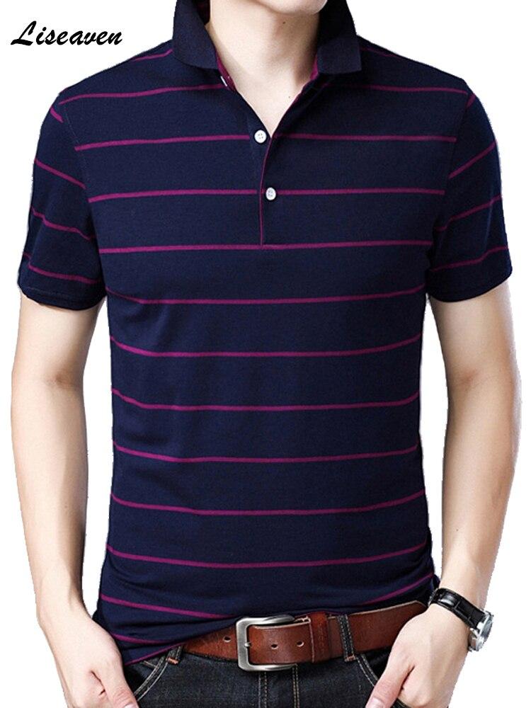 Liseaven Men   Polo   Shirts Short Sleeve Striped   Polo   Shirts Men's Causal   Polos   Men's Clothing