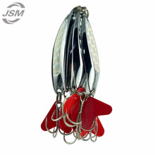 JSM 10pcs Hard Metal Spoon Fishing Lures Fresh Water Fishing Wire Spinner Bait For Trolling China Silver Fishing Wobblers