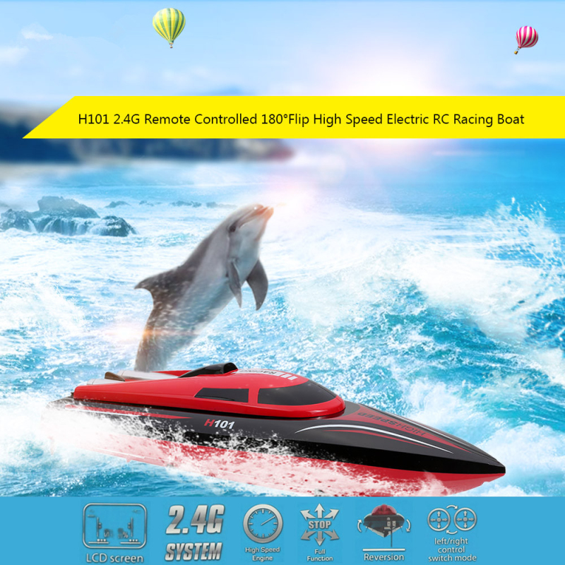 High Quality High Speed remote control rc Boat H101 2.4GHz 180 degree Flip RC Racing Boat Speedboat child best gift toy vs WL915 купить в Москве 2019