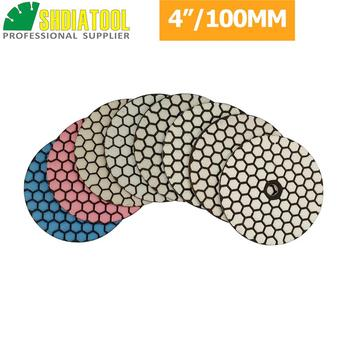 цена на SHDIATOOL 40pcs 4/100mm Diamond Flexible Dry Polishing Pad Working Without Water Sanding Discs For Granite Marble Hard Stone