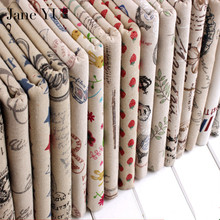 JaneYU diy sofa upholstery curtain linen fabric cloth for tablecloths patchwork sewing patterns furniture fabric tissu textile