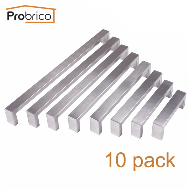 probrico cabinet furniture handle stainless steel 4 12 rectangle t