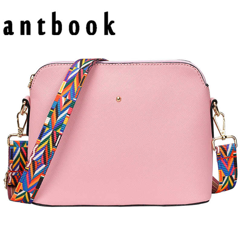 New Hot Women Handbags Candy Color Wide Strap Girls Small Shoulder  Messenger Bag Ladies Shell Crossbody