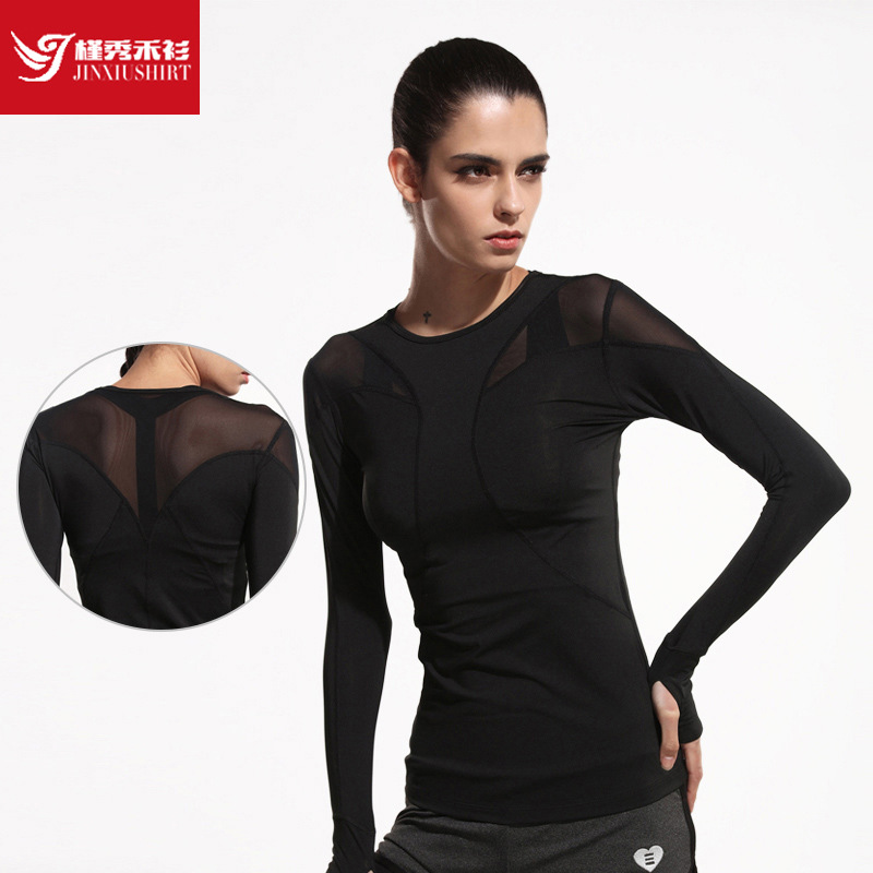 New women yoga top women yoga shirts long sleeve gym Yoga shirts with sleeves