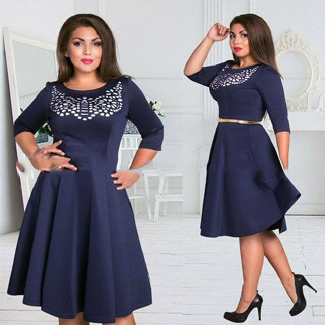 1ae1bc528a9 Online Shopping India L-6XL Plus-Size Style Women'S S Autumn Dress Sexy  O-Neck Long Sleeve Women Dress Solid Ladies' Ball Gown