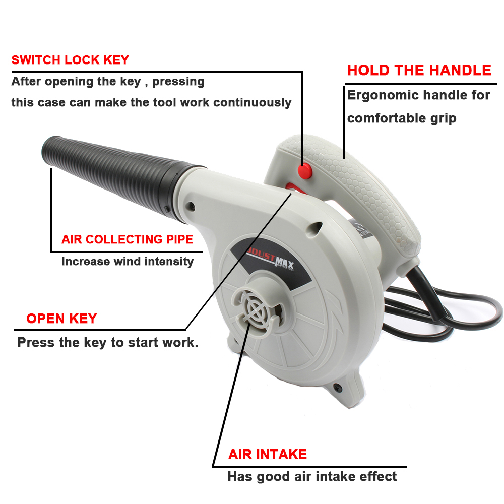 Image 2 - 600W /1000W 220V 240v High Efficiency Electric Air Blower Vacuum Cleaner Blowing Dust collecting Computer dust collector cleaner-in Blowers from Tools on